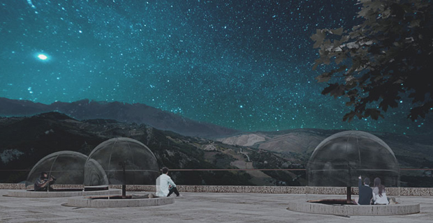 Il vincitore del concorso Observatory Houses e le sue bolle trasparenti