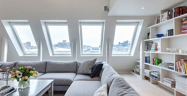 Nuova vita alle piccole soffitte con accorgimenti per abitare il sottotetto