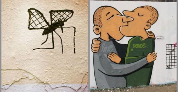 Il progetto Paint Back e le opere di street art anti-nazi