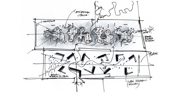 Il padiglione Arcipelago di Cucinella per la Biennale di Venezia 2018.