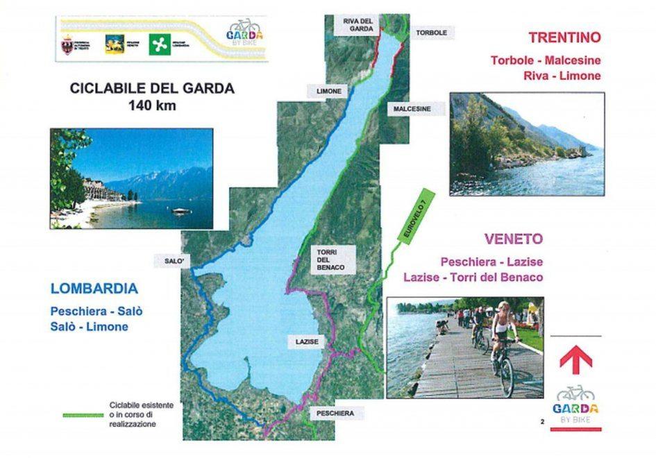 Lago Di Garda Cartina Fisica.Garda By Bike Una Pista Ciclabile Sulle Rive Del Lago Di Garda