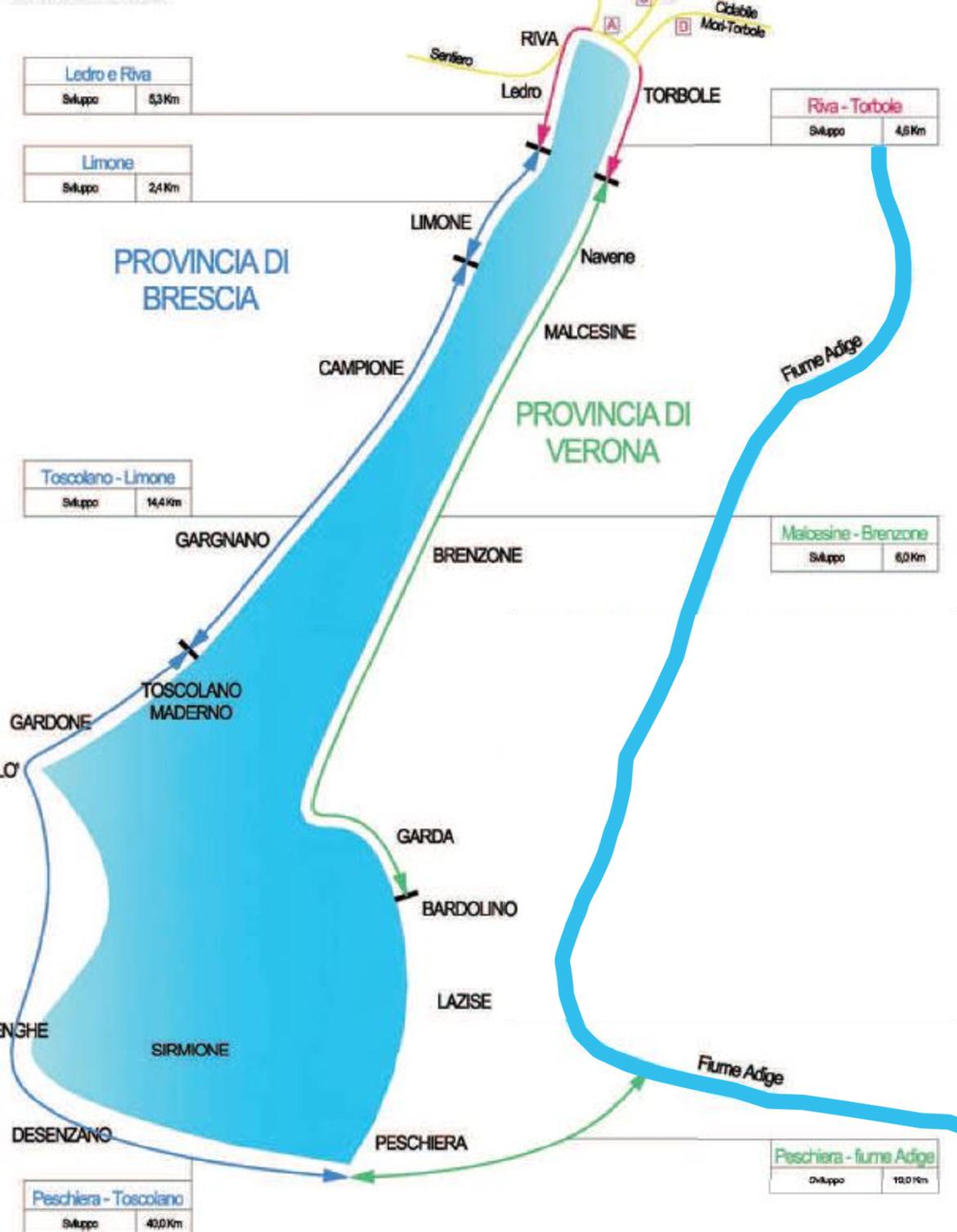 Lago Di Garda Cartina Geografica.Garda By Bike Una Pista Ciclabile Sulle Rive Del Lago Di Garda