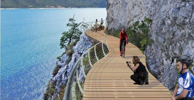 Il nuovo tratto della pista Garda by Bike lungo il lago di Garda