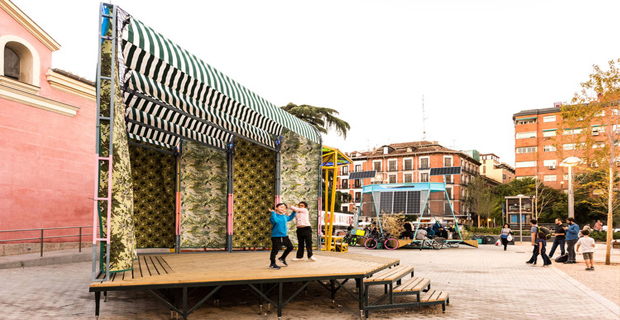 Il laboratorio urbano che produce energia in uno spazio pubblico di Madrid