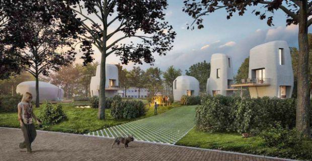 Il primo complesso residenziale stampato in 3d In Olanda