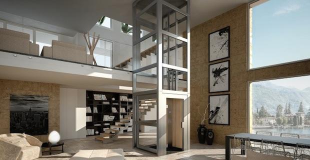 I miniascensori per superare altezze e dislivelli in spazi ristretti e abbattere barriere architettoniche