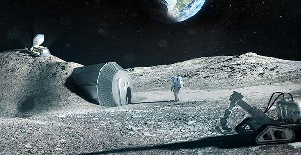 Il villaggio lunare Lunar Habitation di Foster+Partners stampato in 3D