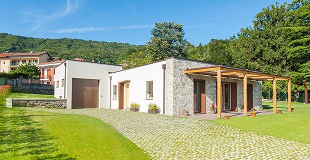 vista di Casa t°P la prima casa certificata Passivhaus Plus in Italia