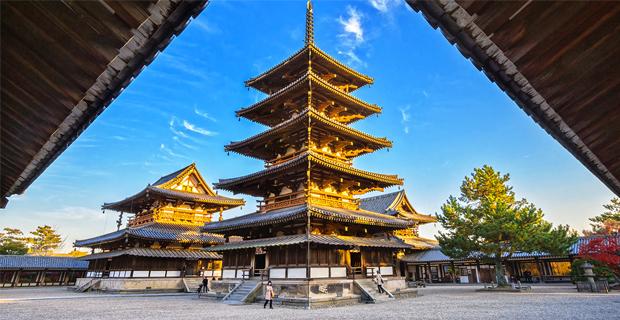 L'architettura in legno delle pagode dalla Cina al Giappone.