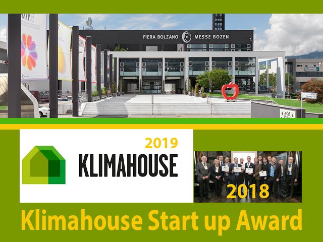 Candidature fino al 5 novembre per il Klimahouse Startup Award 2018.