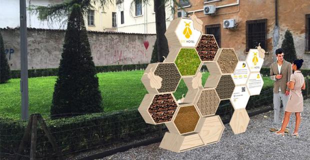 Favorire la biodiversità in città con i bug hote per insetti.