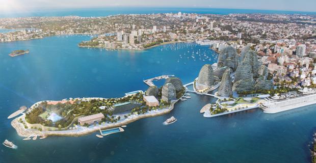 Il progetto dello studio LAVA per il Sydney Garden Island.