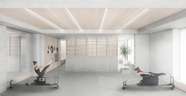 La palestra di Pilates Core Kensington a Londra.