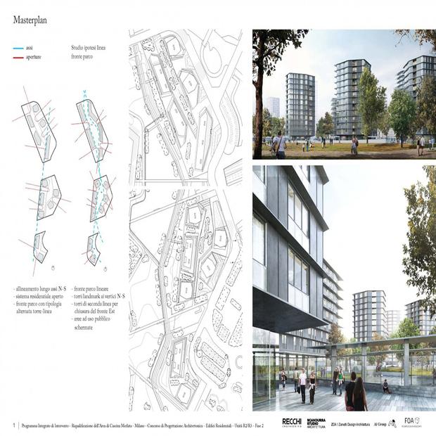 Il masterplan del quartiere UpTown a Milano.