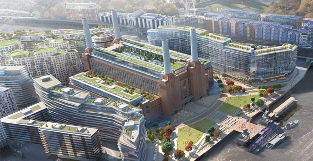La riqualificazione urbana di Battersea Power Station a Londra.