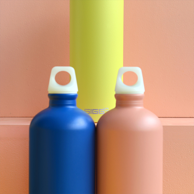 Borraccia di design svizzero Sigg in alluminio