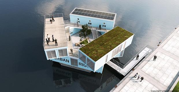 architettura container urban rigger alloggi galleggianti