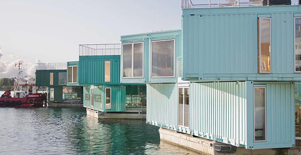 architettura container urban rigger case copenaghen