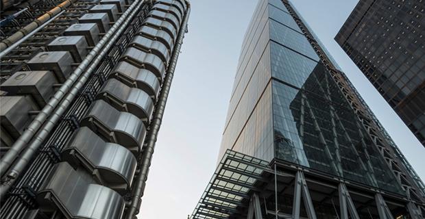 Leadenhall e Lloyd's building di Richard Roger a Londra.