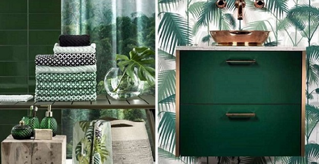 bagno stile tropical chic