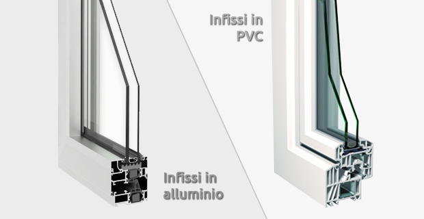 Differenze tra infissi in alluminio in pvc: guida