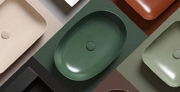 Lavabi colorati per bagni di design